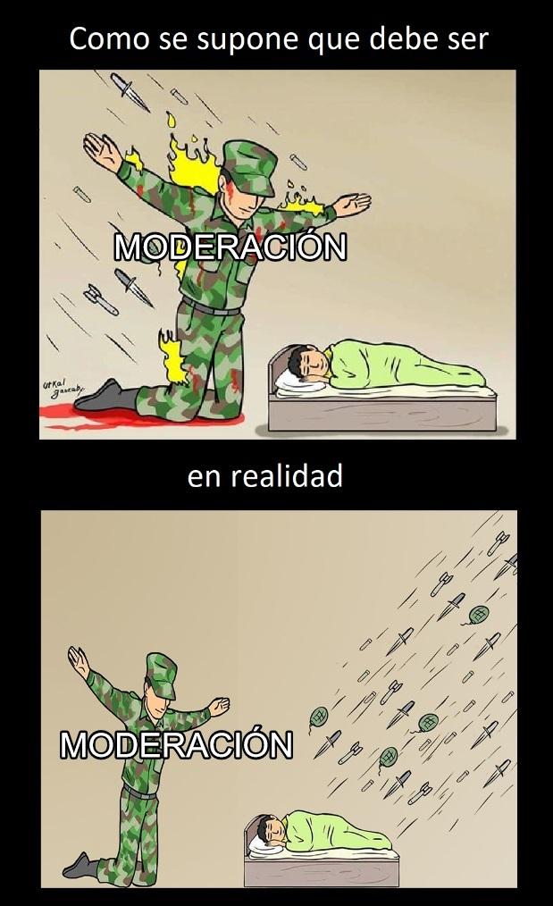 toca moderar muchachos - meme