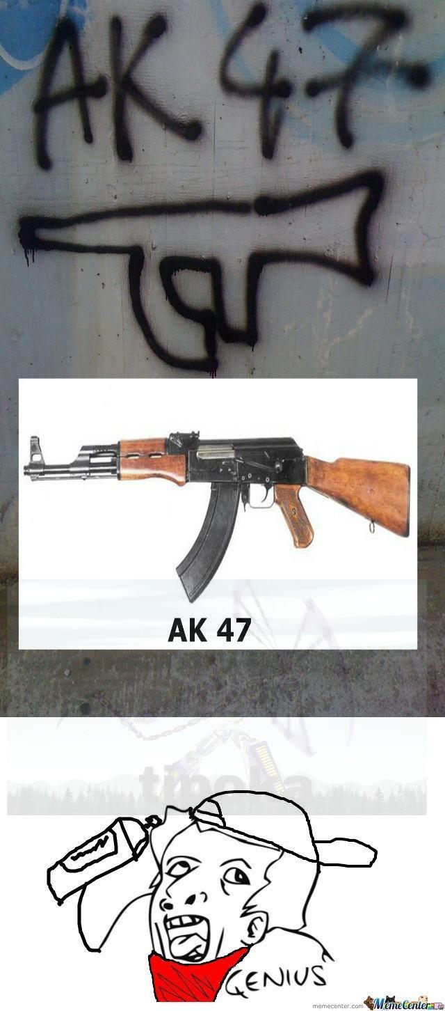 El sr kalashnikov (creador de la ak-47) no lo aprueba - meme