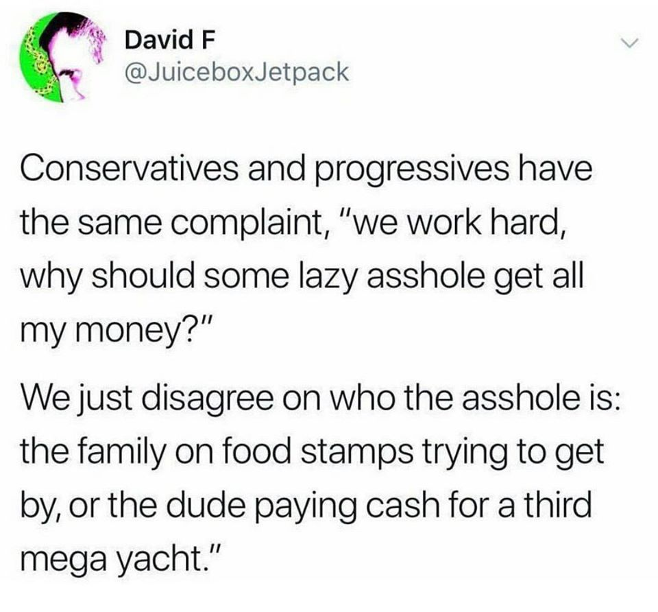 Conservatives vs Progressives - meme