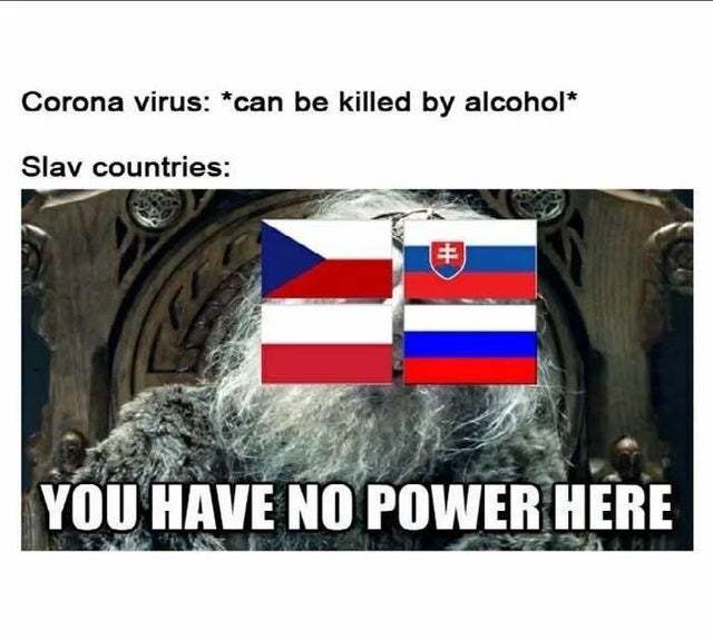 Coronavirus has no power in Russia - meme