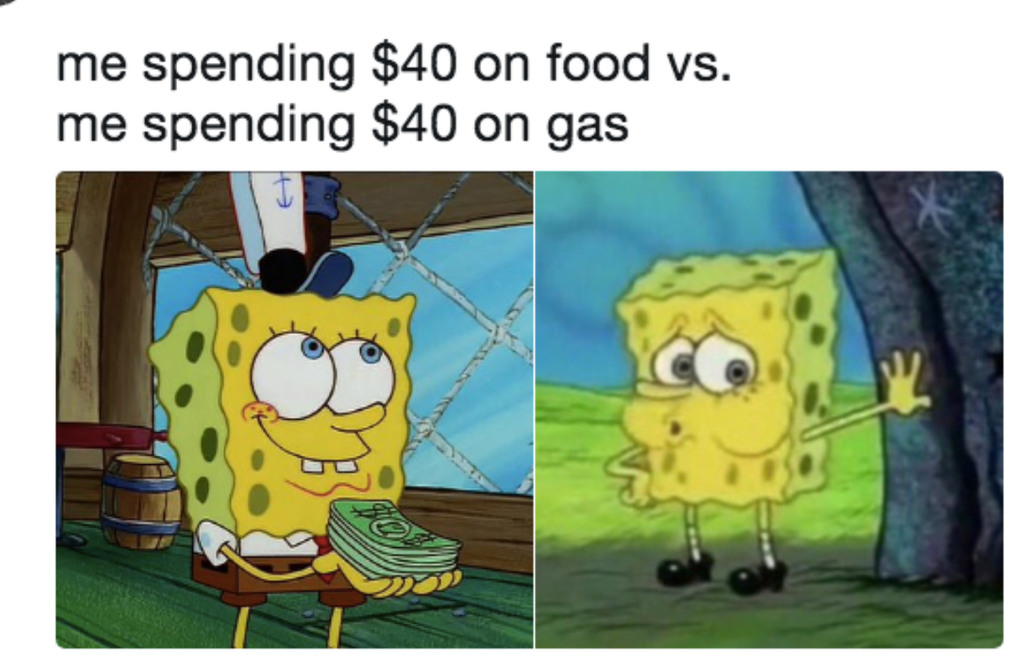 Gas money  be like... - meme