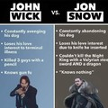 John Wick vs Jon Snow