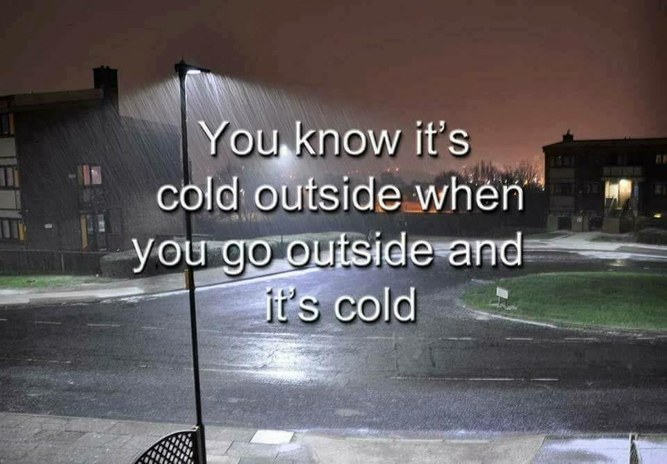 Cold - meme
