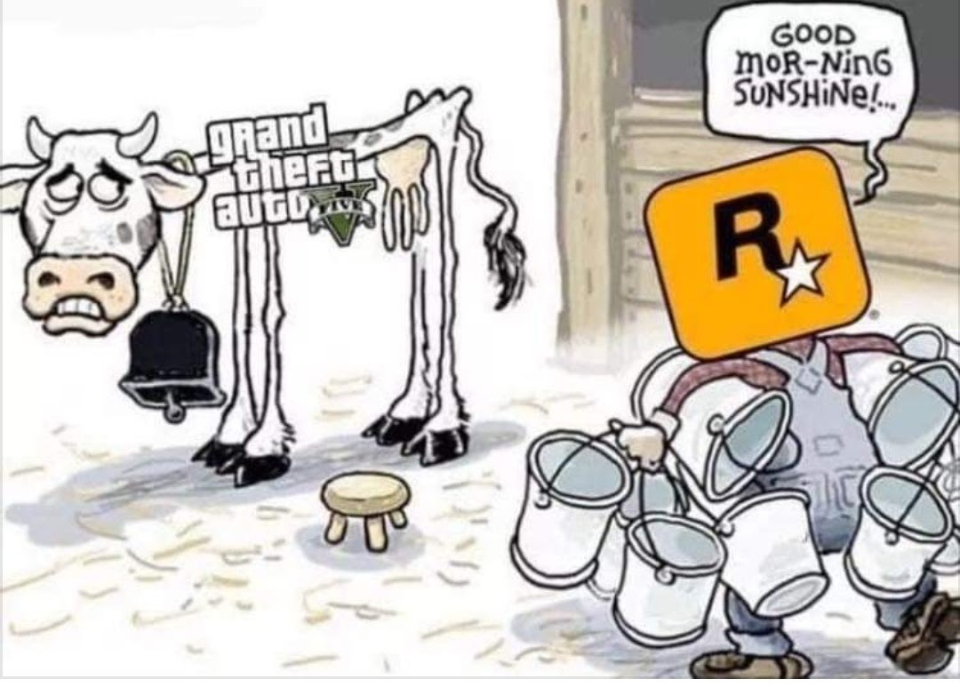 O PS2 teve 3 GTAs, GTA V tem 3 Palystations - meme