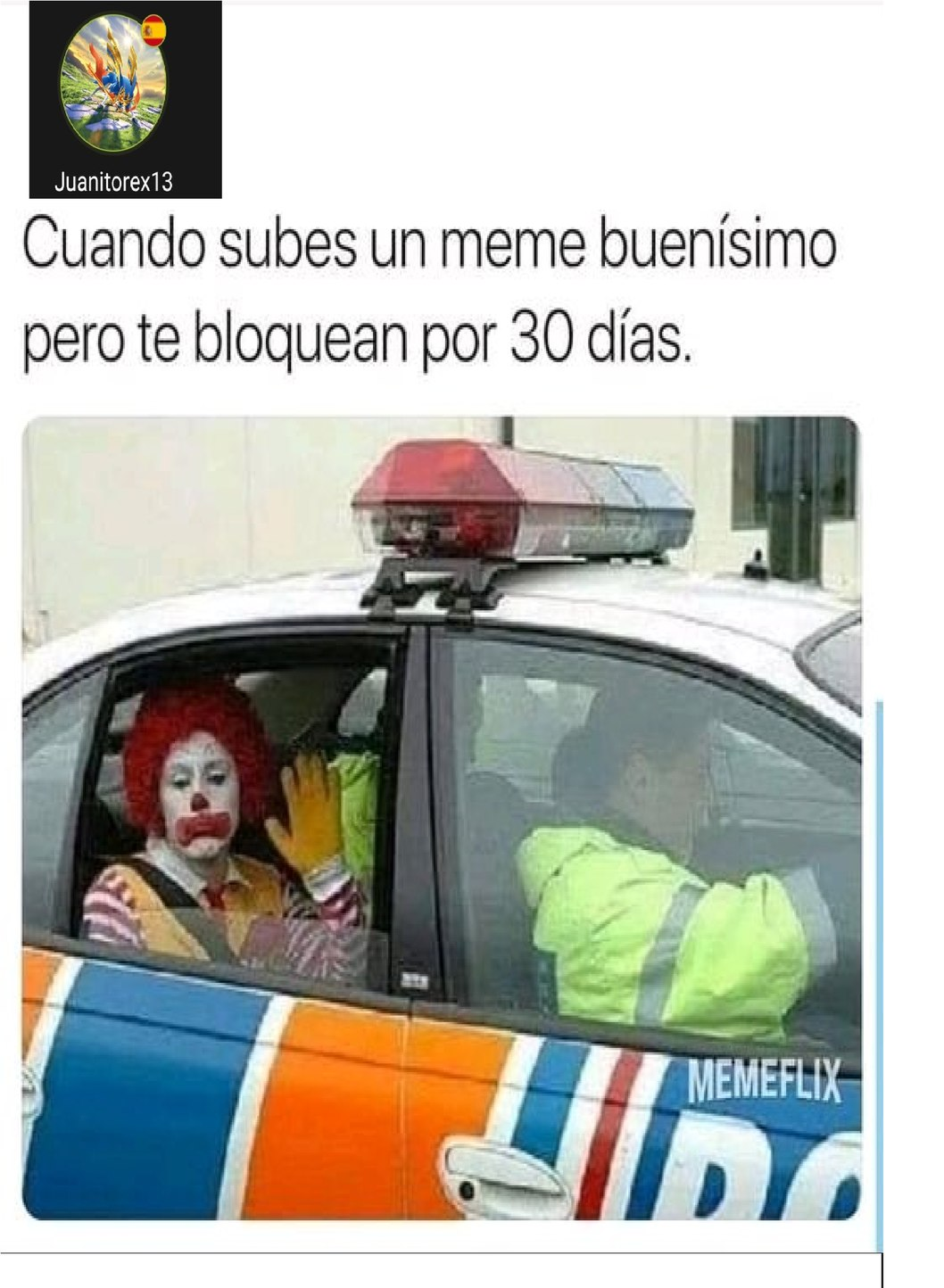 EL PAYASO DEL SALON - meme
