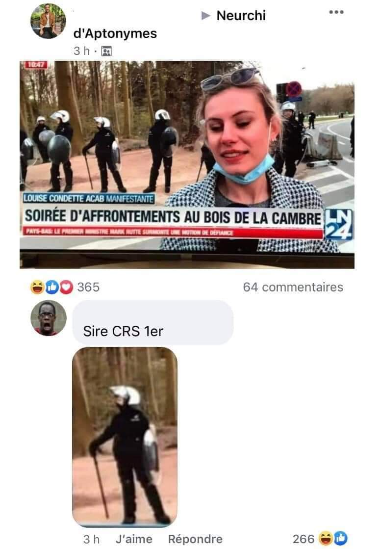 Qui aimerait être CRS ? - meme