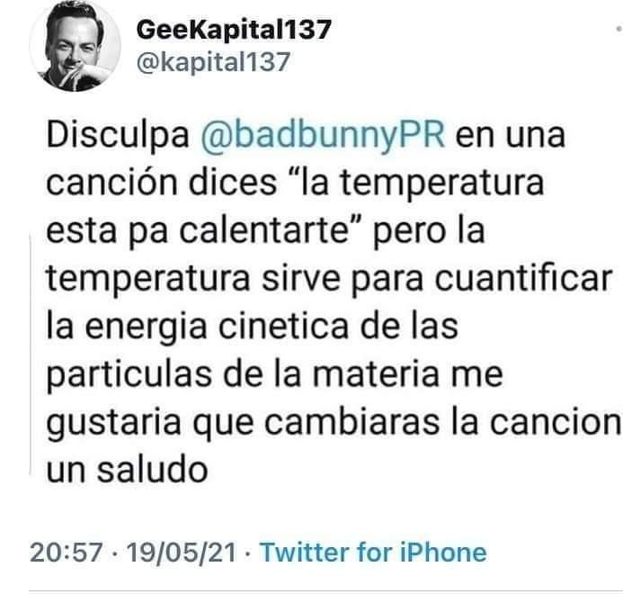 Temperatura - meme