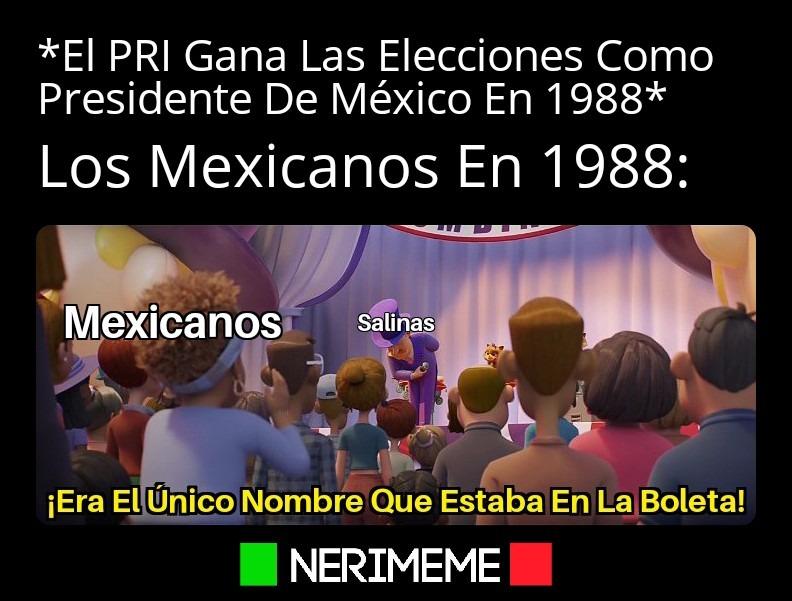 Así Fue El Fraude electoral De 1988 - ¿si quieren que suban la plantilla? Solo Comente - meme
