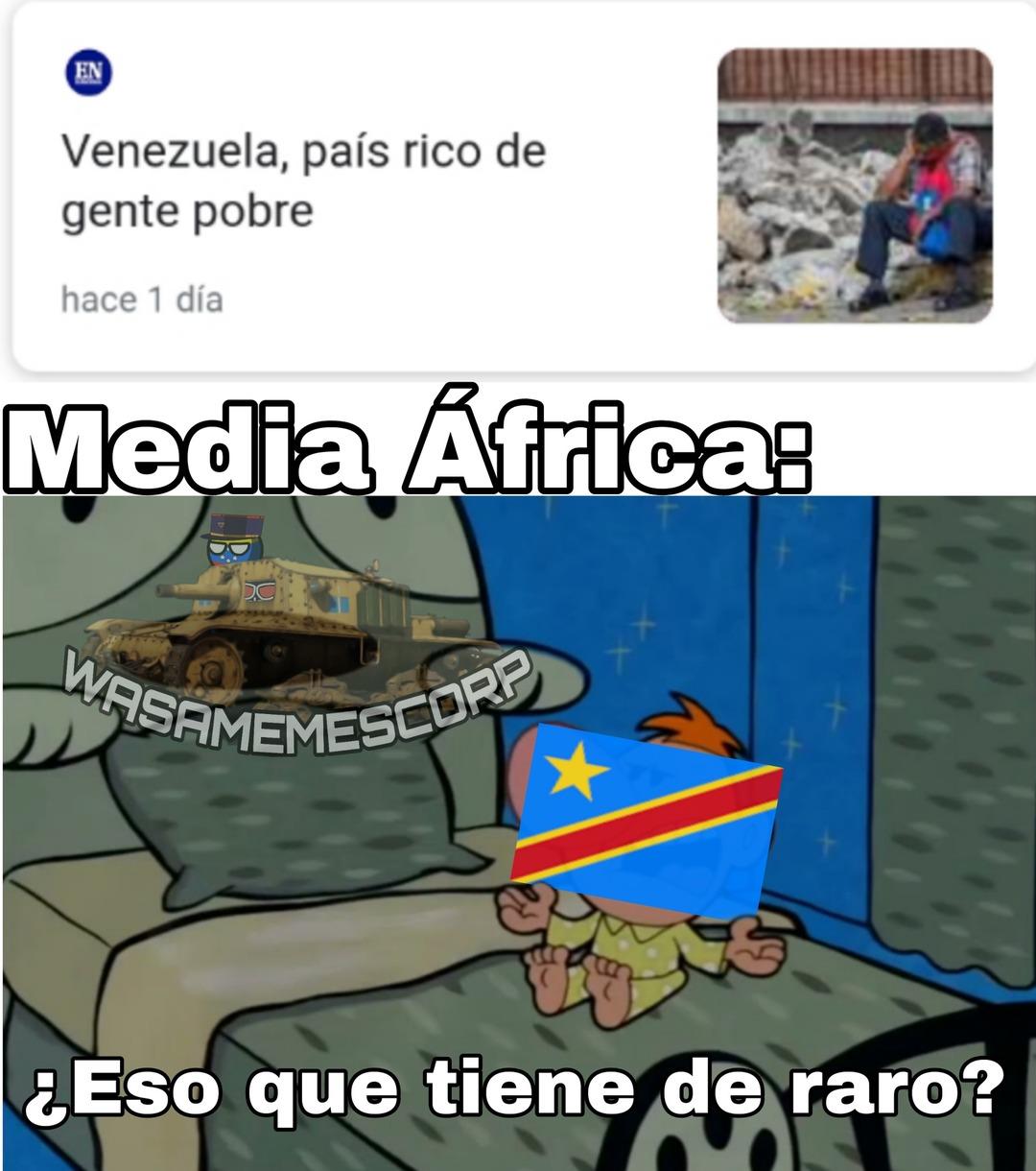 La República Democratica del Congo es más rica que Suiza pero más pobre que Haití - meme