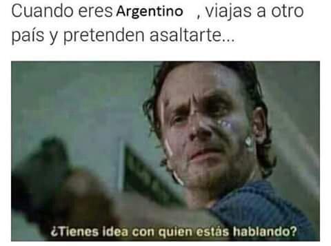 El titulo se fue a Argentina - meme