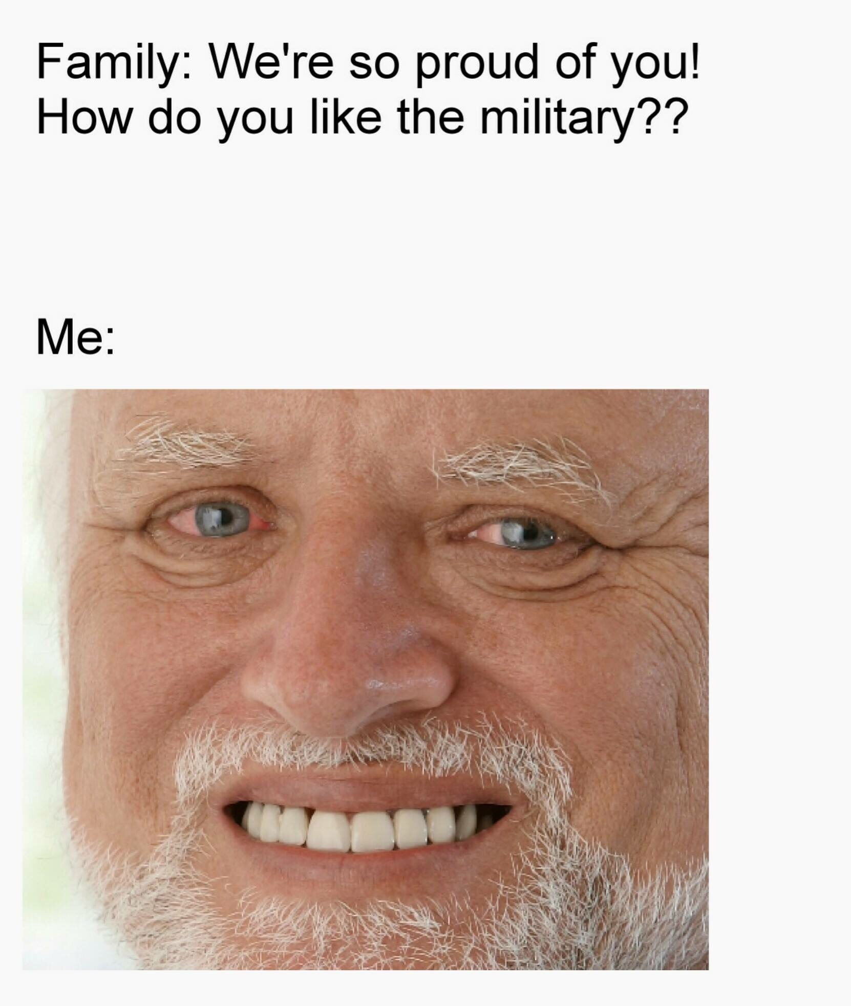 when you talk to your family about your enlistment - meme