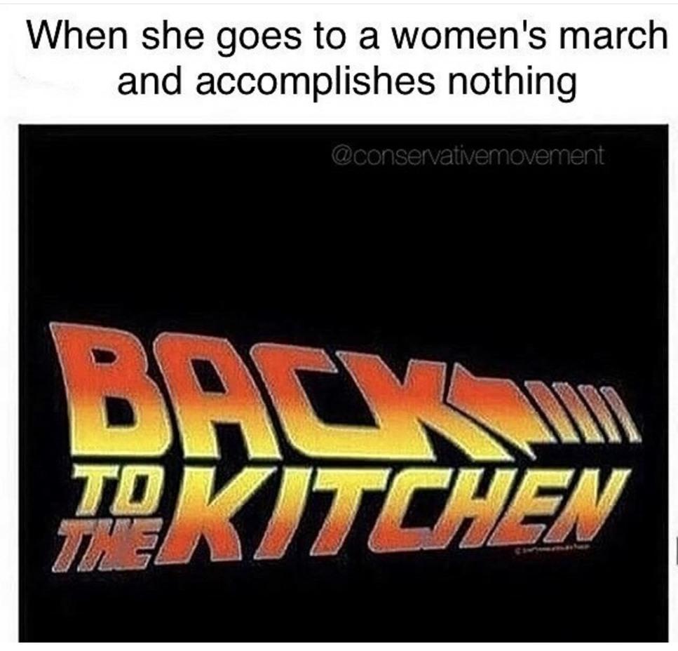 Where the non feminist women at? - meme