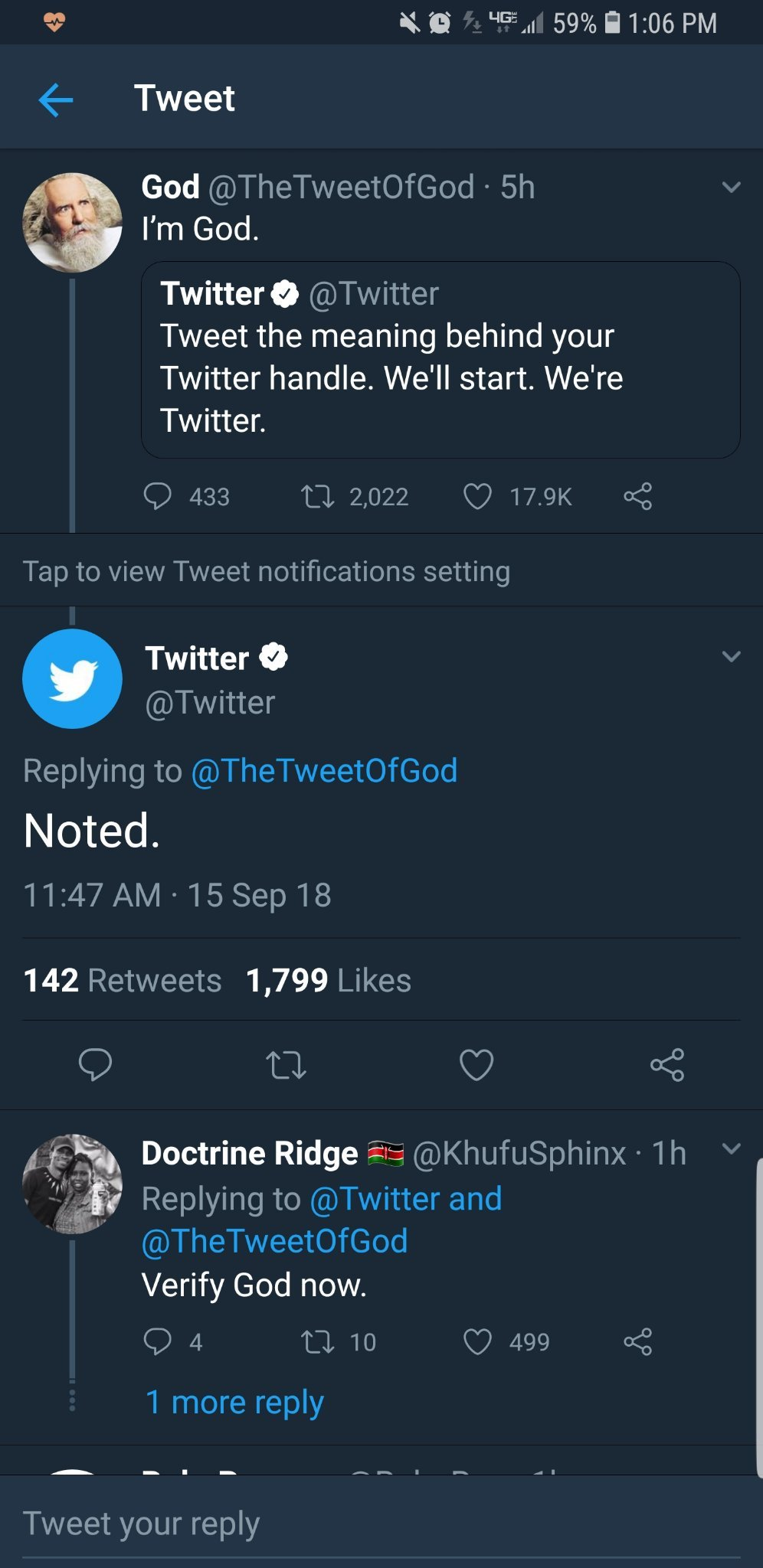 God vs Twitter - meme