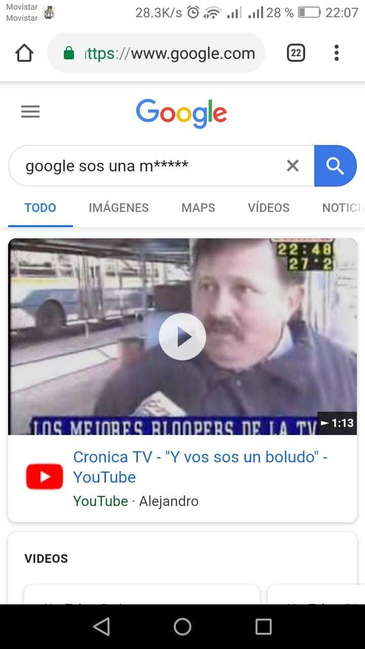 Cuando te insulta google - meme