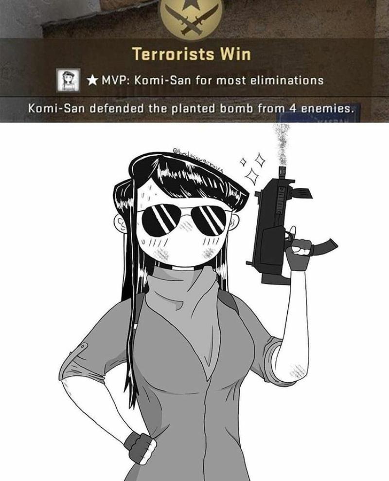 Komi San GO - meme