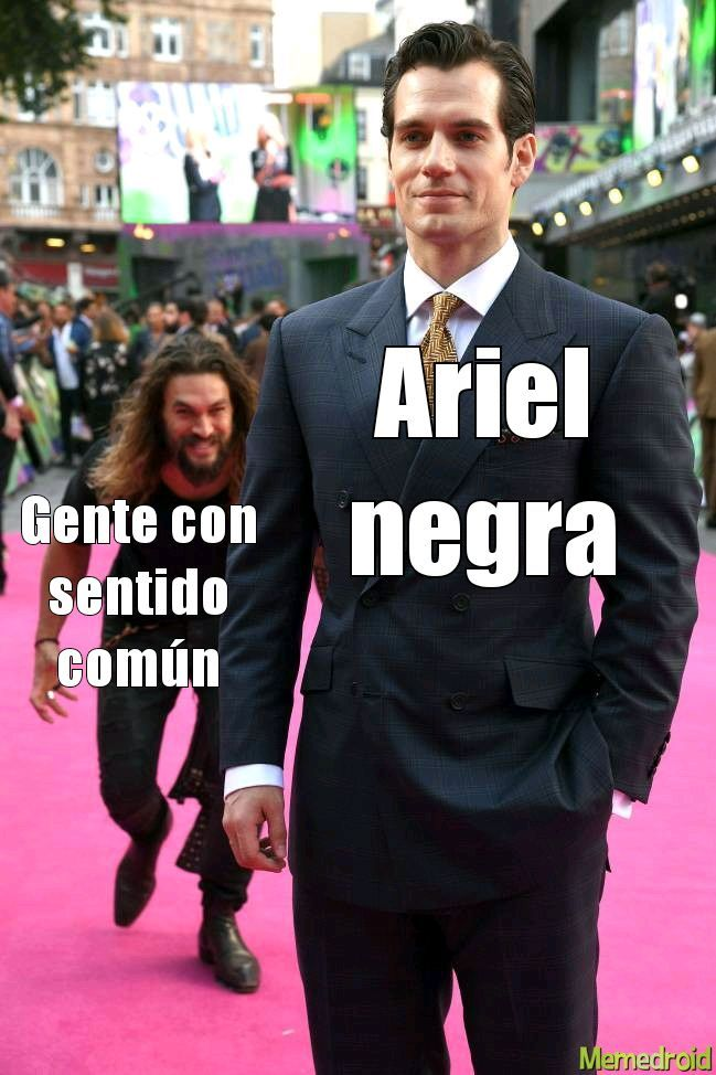 Ariel es pelirroja - meme