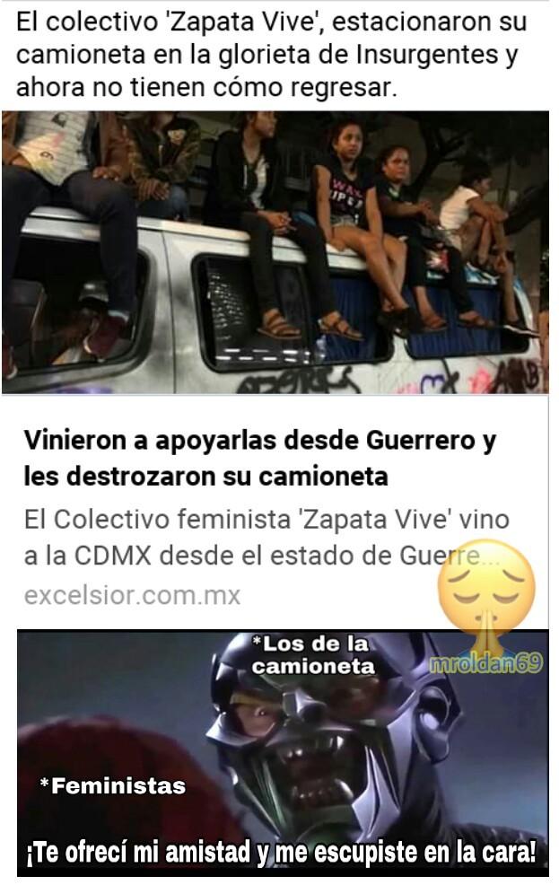 Manifestación feminista en CDMX - meme