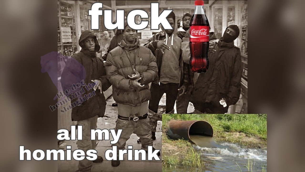 The virgin Coca-Cola vs the Chad agua de cloaca - meme