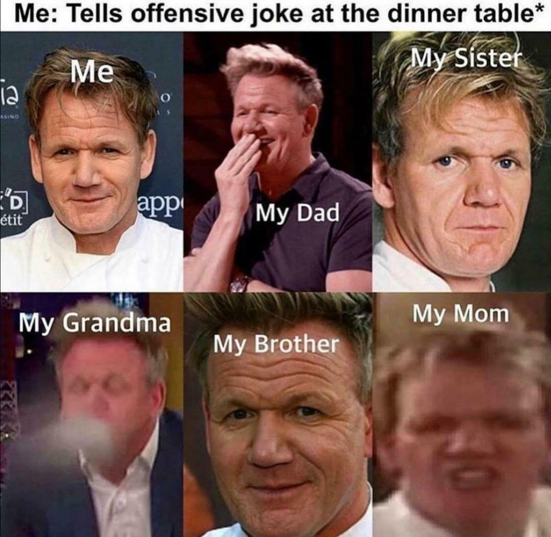 Les meilleurs blagues sont les plus offensantes - meme
