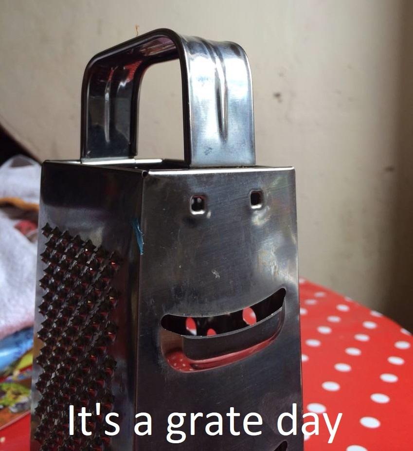 It's a grate day - meme