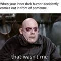 I swear it wasn't me