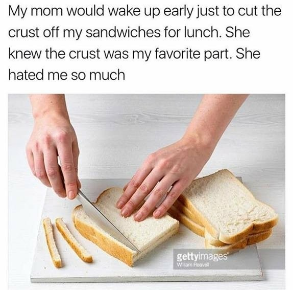 Your mom is so crusty - meme