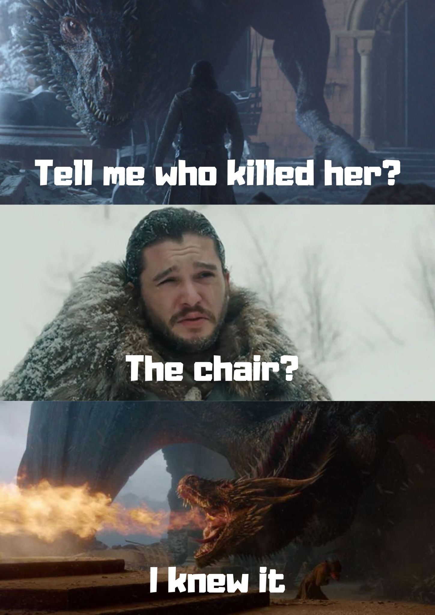 Who Killed Dany Targaryen - meme