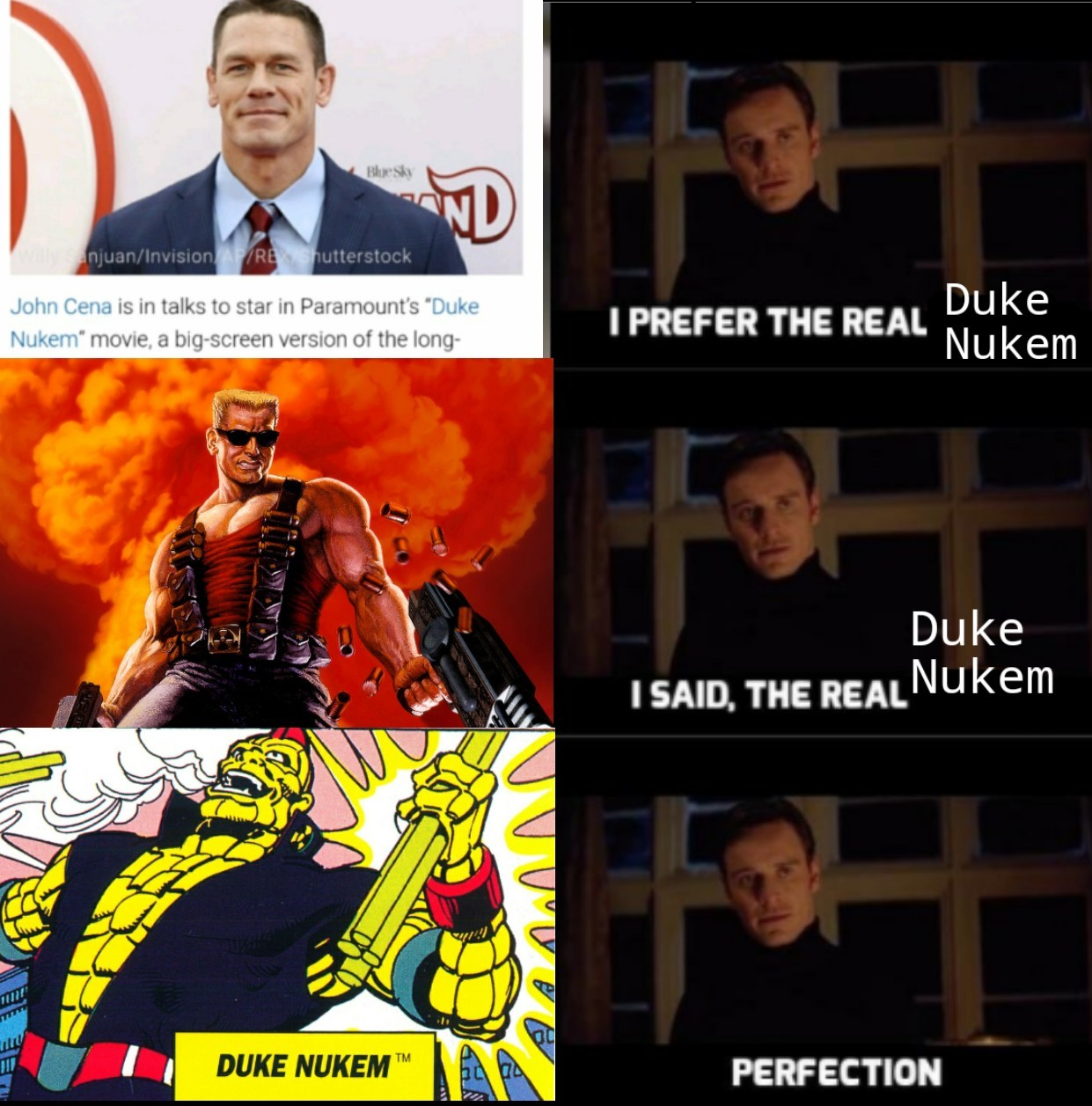 Duke Nukem is also apparently a Captain Planet character - meme