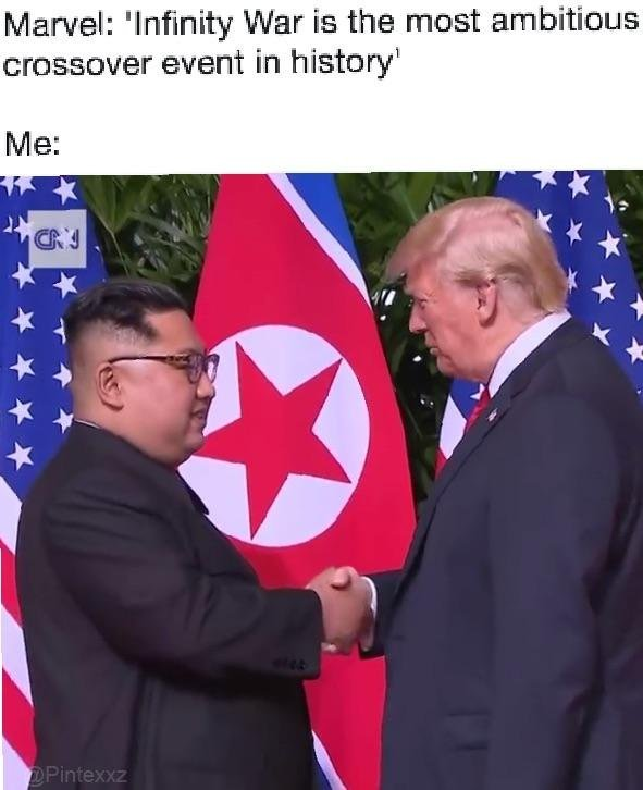 Trump and Kim's love - meme
