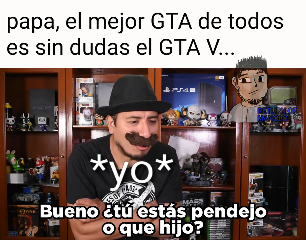 GTA III , IV , VC y SA bestos gta ever - meme