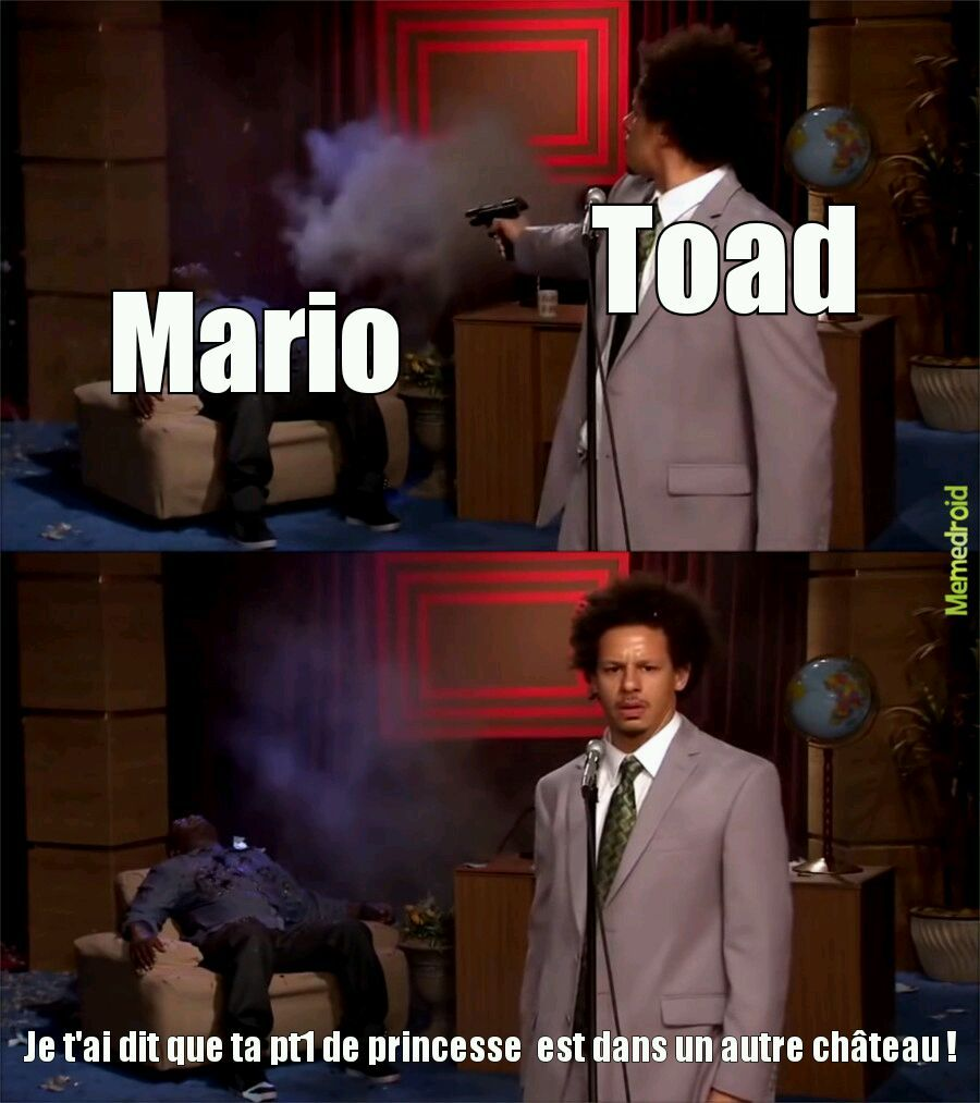 Toad as gun - meme