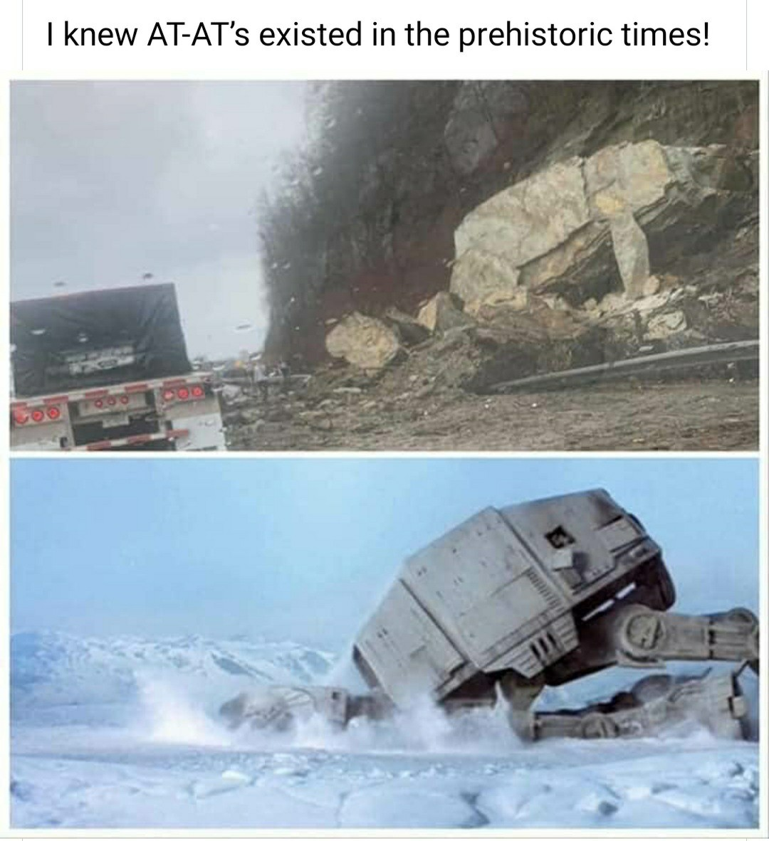 "Is it pronounced ""at-at"" or ""a-t-a-t"" tho - meme"