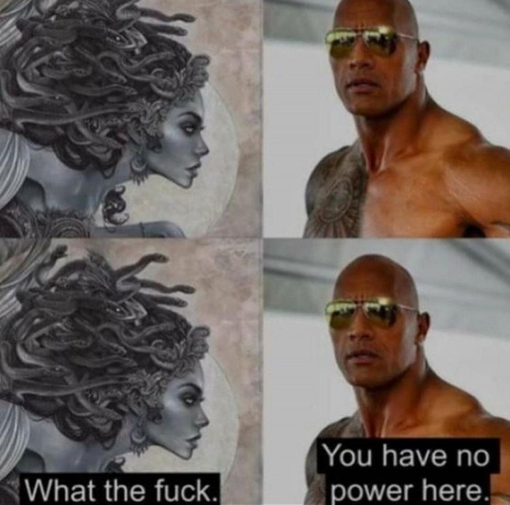 O Preda, vulgo Deroque, vulgo The rock - meme