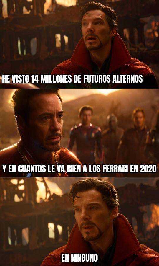 Cosas que no pasarán en 2020 - meme