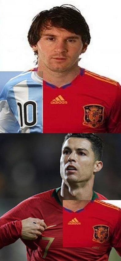 Messi elige a Argentina en lugar de y España y CR7 en España a 15 km de Madeira y tendrían Mundial - meme