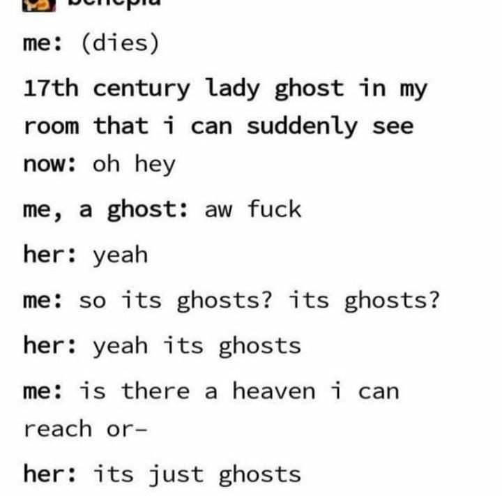 Ghosts - meme