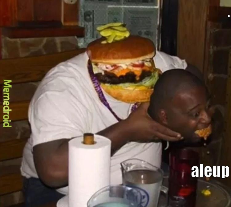 melhor hambúrguer - meme