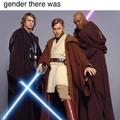 anakin isn't a Jedi master