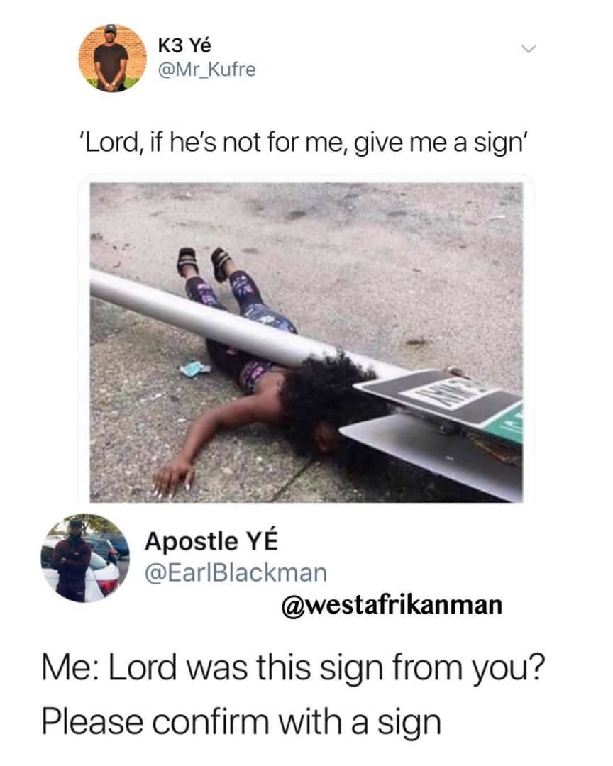 That's a sign you cannot miss - meme
