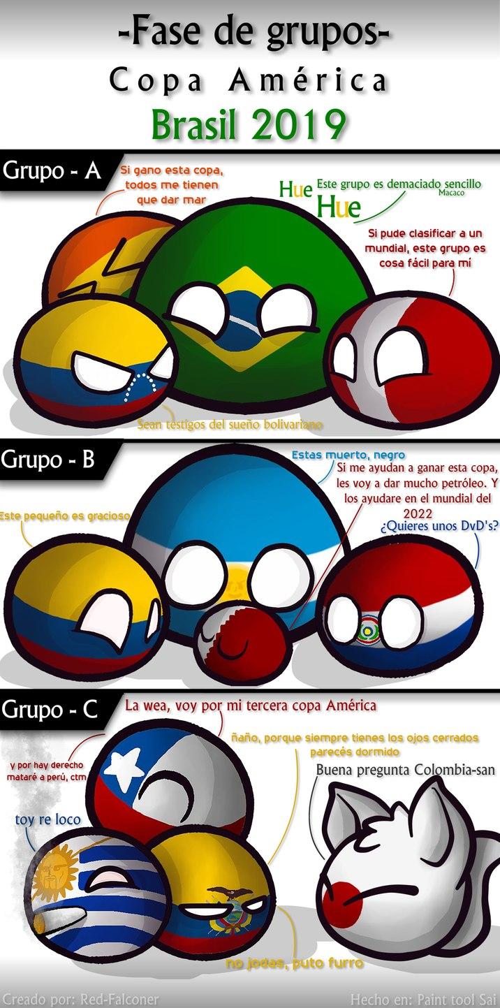 Fase de grupos - Copa América 2019 (101% Original) - meme
