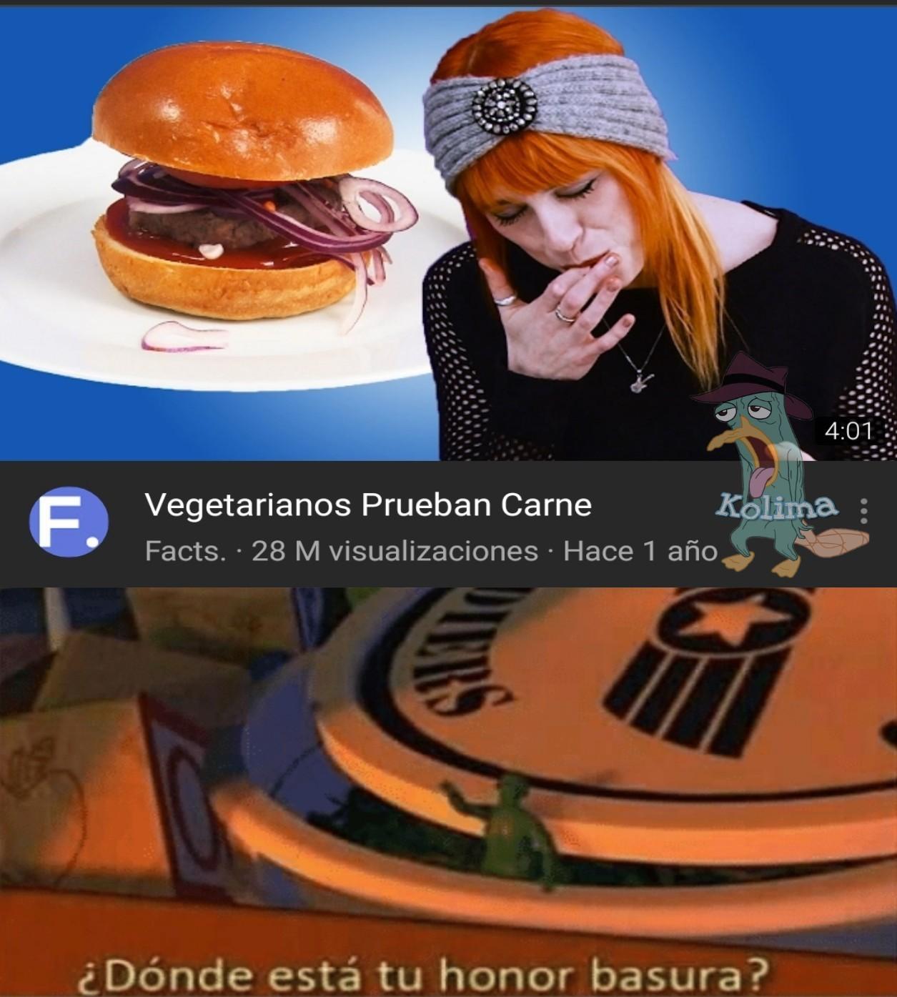 ¿Y la gracia de ser vegetariano? - meme