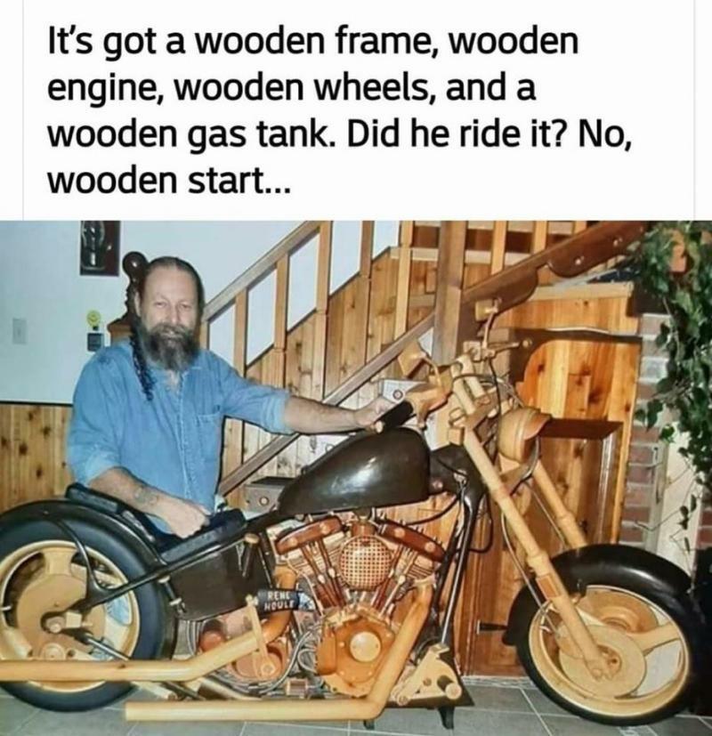 Wooden start - meme