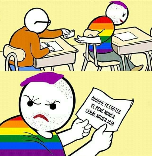 si te cojes a un trans sos putazo - meme