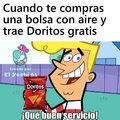 Un meme de Doritos, originalmente estaba con grasa, pero le eche Mr Musculo y se desengraso y quedo 100% libre de grasa