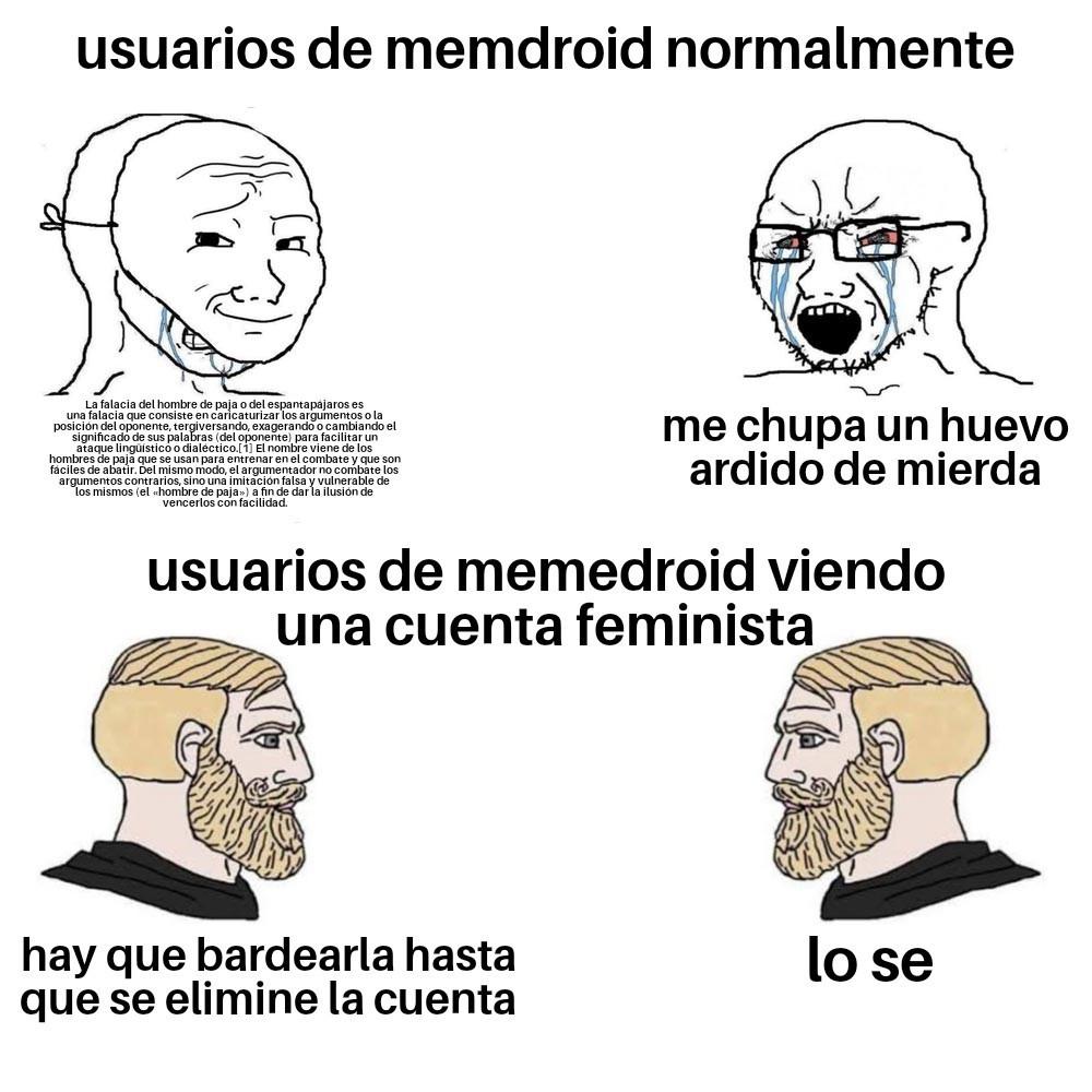 Usuario que no odia el feminismo no es usuario de memedroid