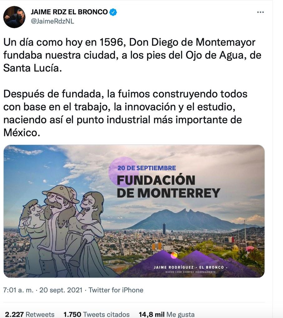 No es edit https://twitter.com/JaimeRdzNL/status/1439922689913856011 - meme