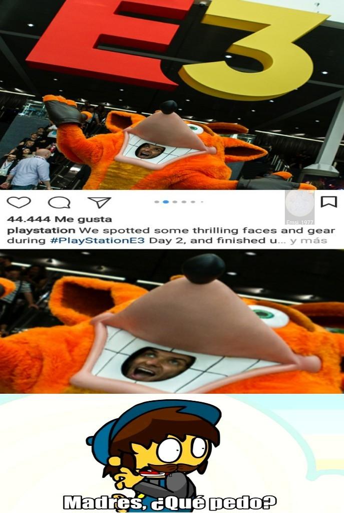 En la página de Instagram de PlayStation se encuentra esta foto - meme