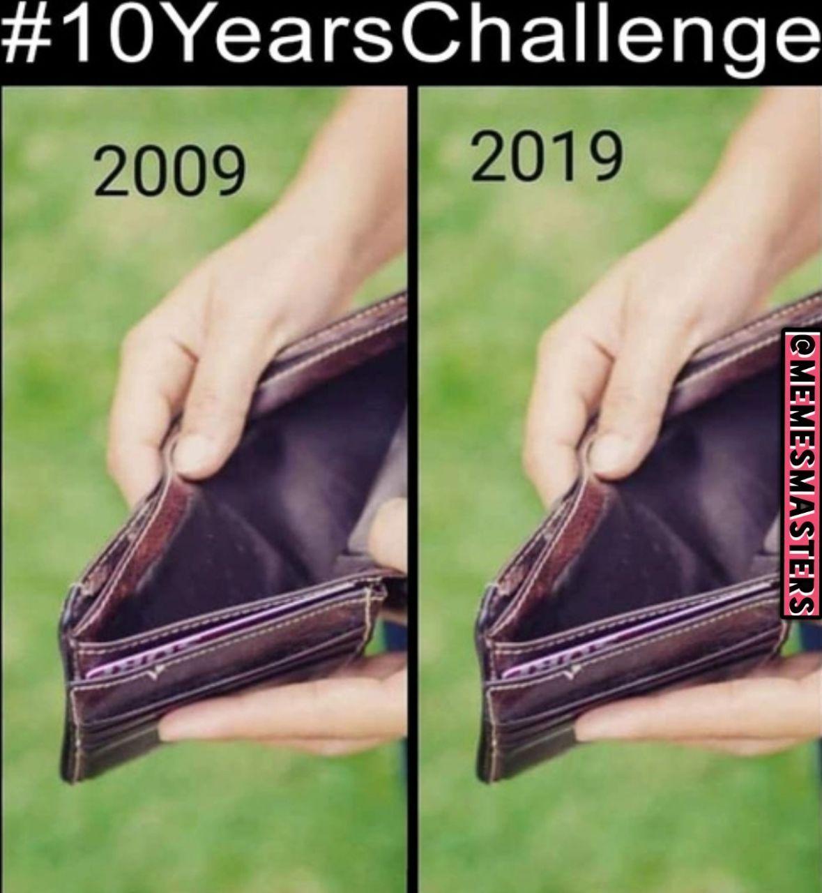 10 years challenge - meme