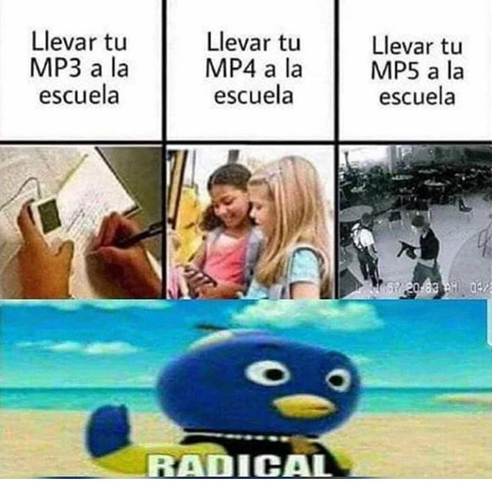 Los mp a la escuela - meme
