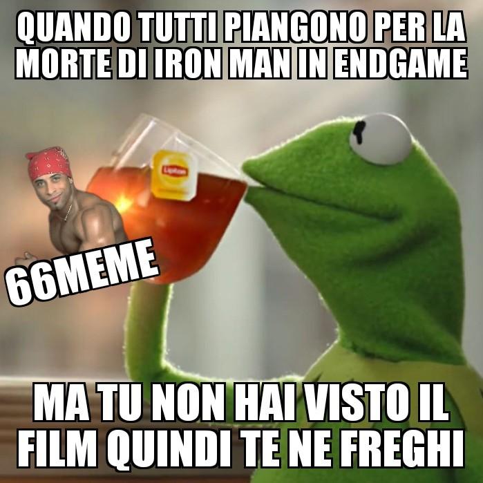 Si, non ho visto EndGame - meme